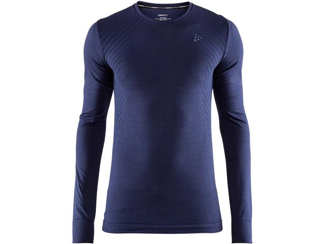 Craft Fuseknit Comfort Camisa manga larga cuello redondo Hombre, maritime